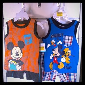 Mickey Mouse and gang shirt n shorts set size 12m